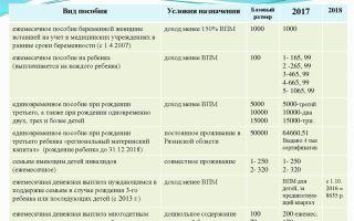 Выплаты при рождении ребенка в 2018 году