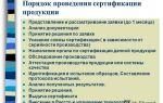 Порядок и правила сертификации продукции