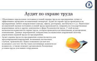Аудит охраны труда на предприятии. внешний и внутренний