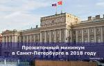 Прожиточный минимум в санкт-петербурге в 2018 году