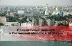 Прожиточный минимум в ростовской области в 2018 году