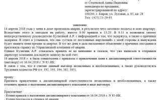 Заявление работника в комиссию по трудовым спорам. образец и бланк 2018 года