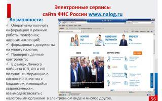 Электронные сервисы фнс россии