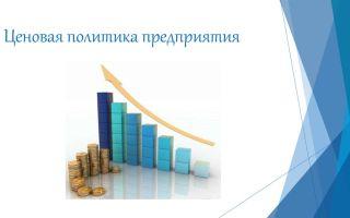 Ценовая политика предприятия. формирование, виды, анализ