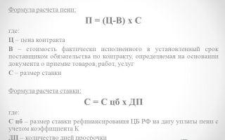 Что такое пеня. формула для расчёта. пример