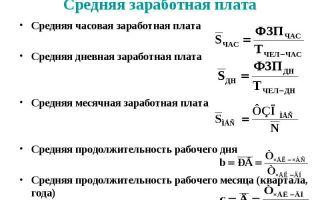 Расчет среднемесячной заработной платы. формула