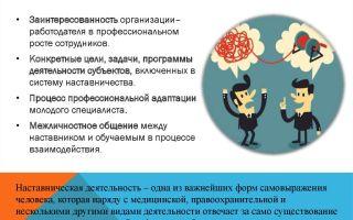 Организация системы наставничества на предприятии