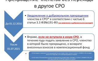 Переход в другую сро. компенсационный фонд