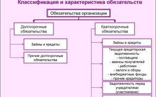 Долгосрочные и краткосрочные обязательства предприятия
