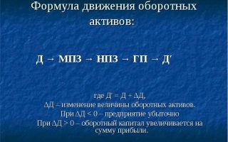Оборотные активы. состав оборотных активов. формула для расчёта