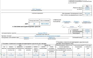 Форма ос-4. акт о списании основных средств. образец и бланк 2018 года