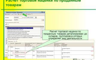 Расчет и учет торговой наценки на товар