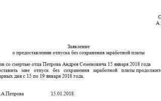 Отпуск на похороны родственников по тк рф. заявление